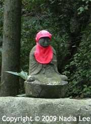 red bib buddha