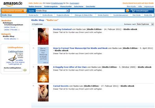 Nadia on Amazon DE