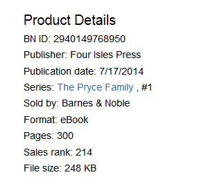 Barnes & Noble ranking for Four Weeks Til/ Forever on July 25, 2014